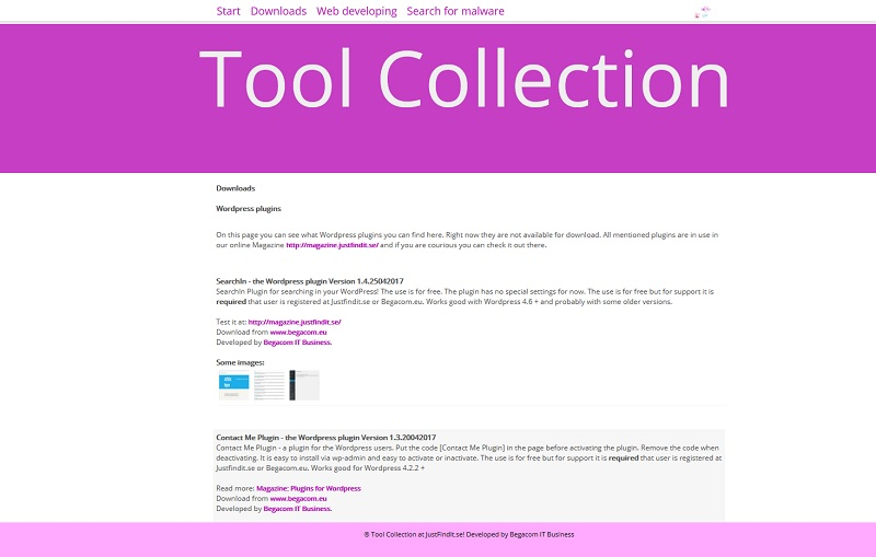 Tool Collection - a real online refreshment