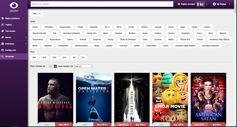 Plejmo - let's watch a movie!