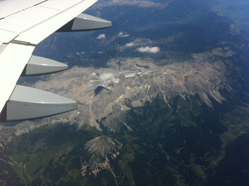 Dachstein - the view from above - Airplane