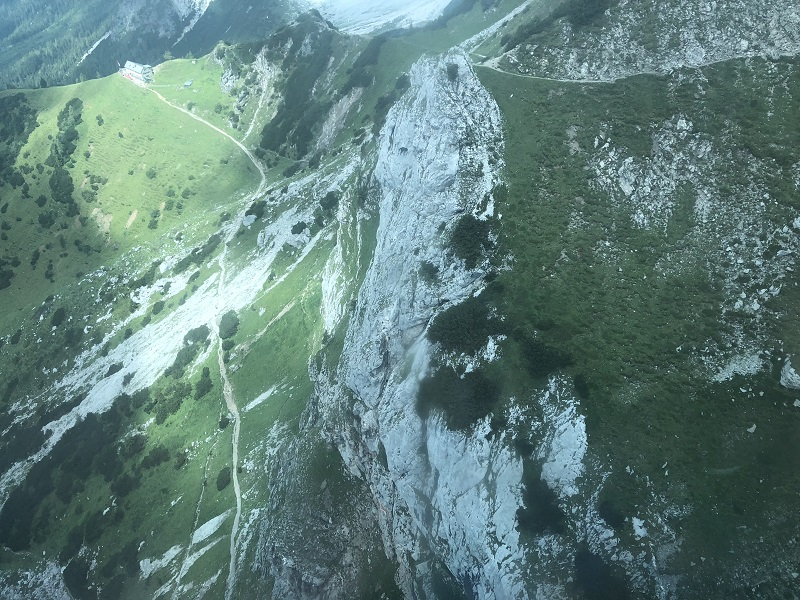 Dachstein - the view from above - One the way up1