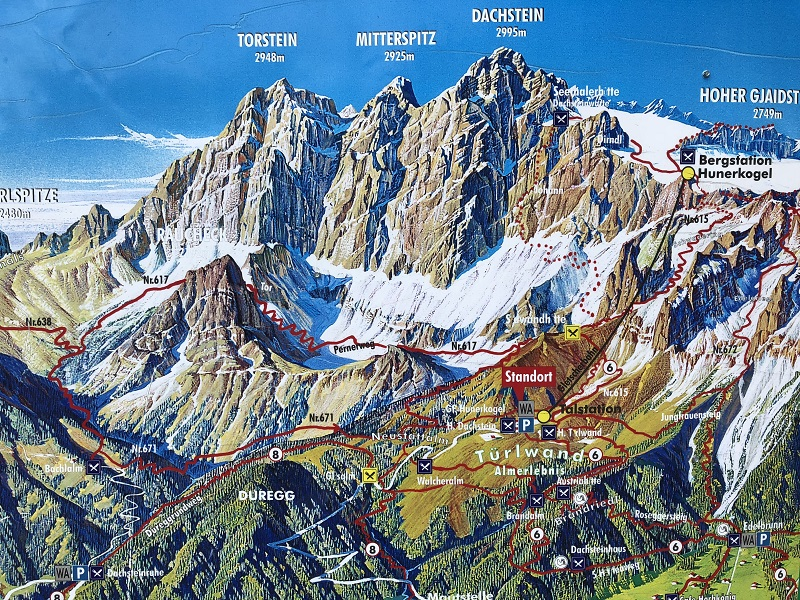 Dachstein - the view from above-dachstein-the-map