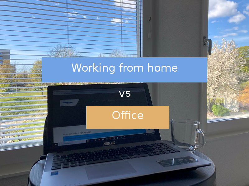 Working from home vs office