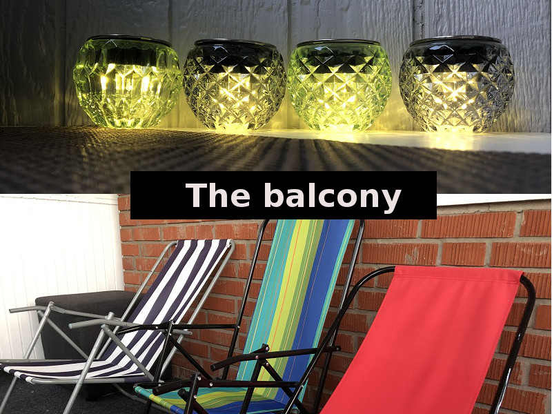 Balcony - a space between home and the outside