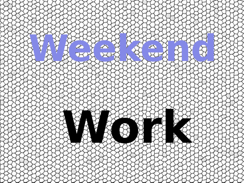 Weekend work - how can we win more spare time?