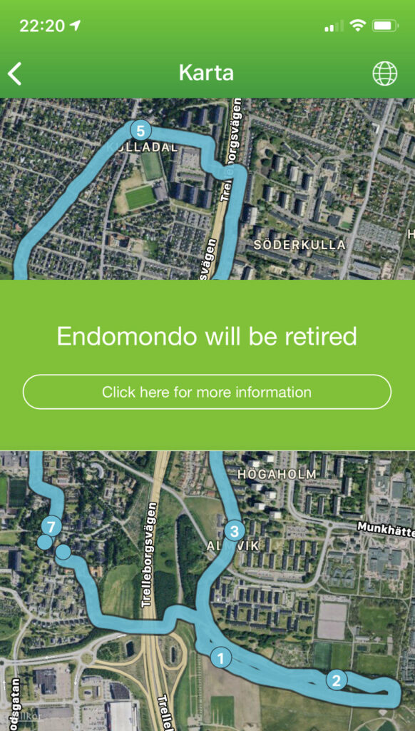 Endomondo - the fun time is over